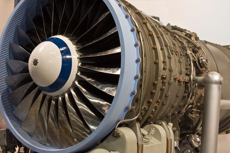The interior of a jet engine Stock Photo - 6030005