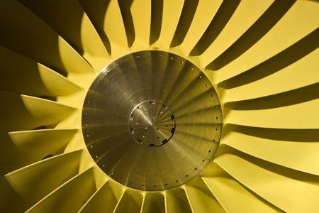 Large jet engine turbine blades Stock Photo - 6029983