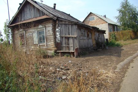 Old house in Russian village photo