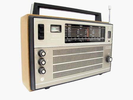 transitor: Rusia Retro Radio transistor caja.