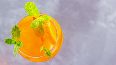 cocktail on a gray background.
