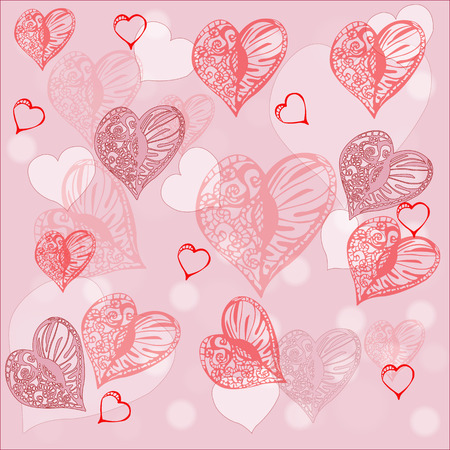 romantic: Romantic Hearts  Pattern Background
