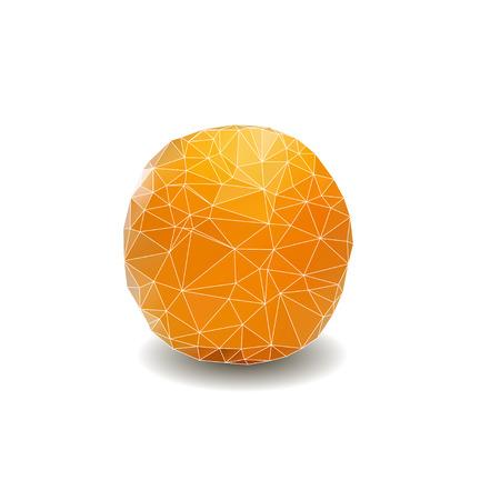 fruitage: polygon lemon on white background