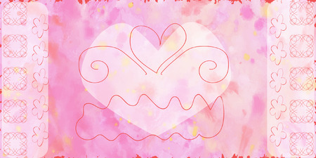 abstract pink: Abstract pink background with a heart inside, vector illustration Illustration