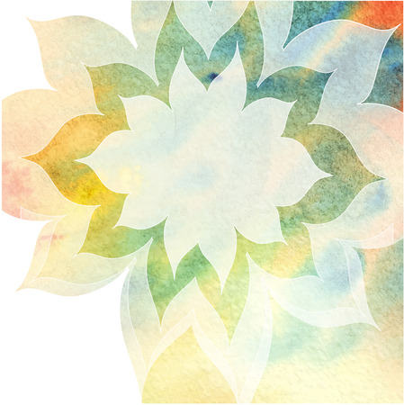 abstract background with white translucent flower with place for your text - vector Illusztráció