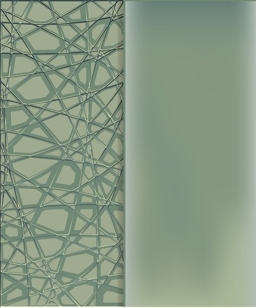 discreet: Green geometric background on which the side is not matte transparent glass or plastic