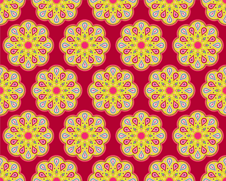 notepad background: Colorful seamless background with decorative flowers