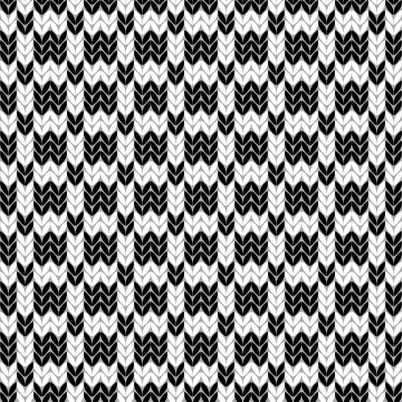 knitted background: Decorative seamless vector knitted background