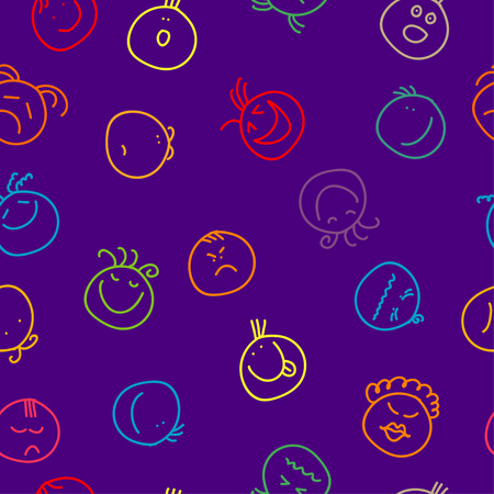 sneer: Seamless decorative background with painted smiles Illustration