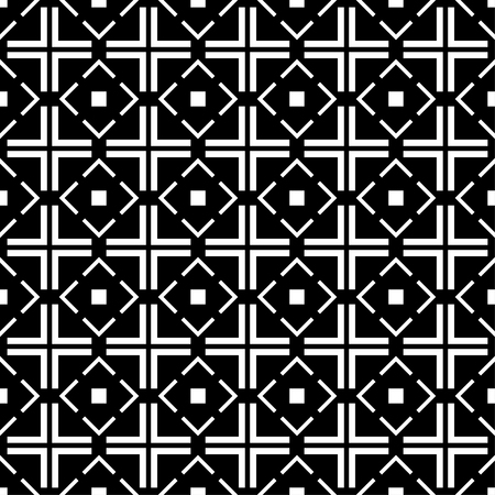 Seamless black and white decorative background with squares