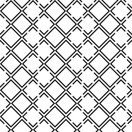 trait: Seamless black and white decorative background with squares
