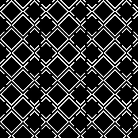 coherent: Seamless black and white decorative background with squares