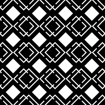 uninterrupted: Seamless black and white decorative background with squares