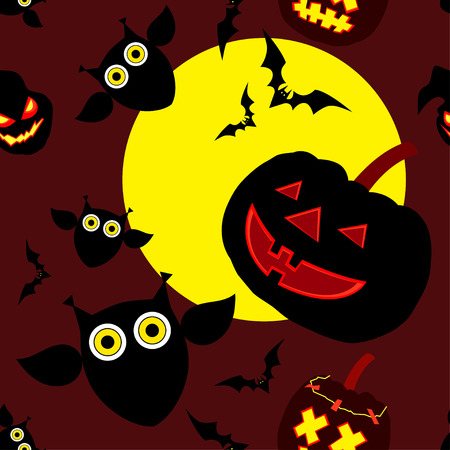 happy halloween: Seamless decorative vector background Happy Halloween Illustration