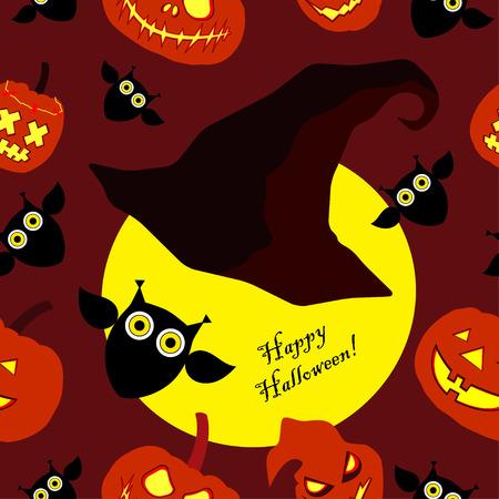 Seamless decorative vector background Happy Halloween Illustration