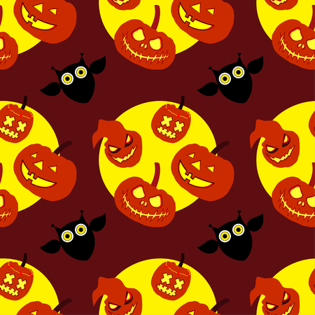 chuckle: Seamless decorative vector background Happy Halloween Illustration