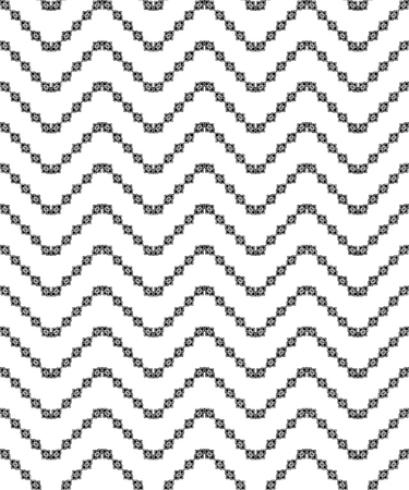 trait: Seamless black and white decorative vector background with geometric shapes