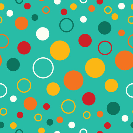trait: Seamless decorative vector background with polka dots