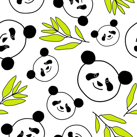 unobstructed: Seamless decorative background with pandas