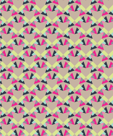 Seamless decorative background with geometric shapes