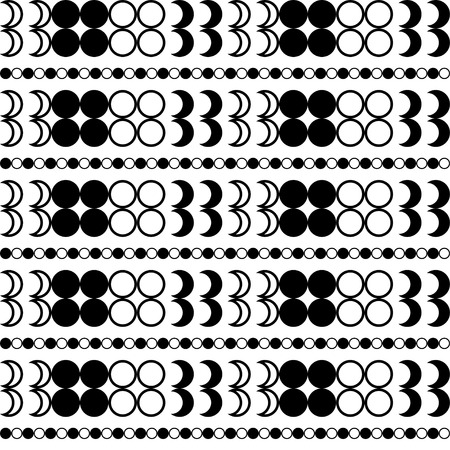 succession: Seamless black and white decorative background with geometric shapes