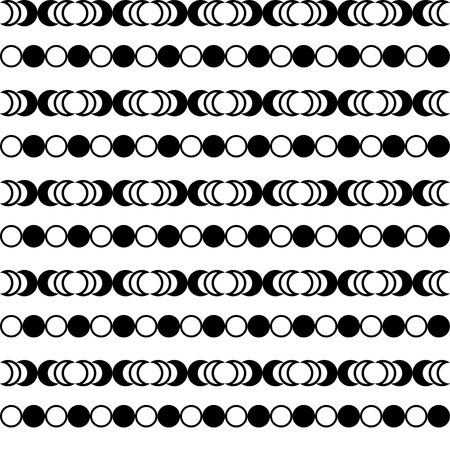 trait: Seamless black and white decorative background with geometric shapes