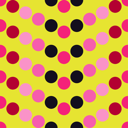 Seamless vector decorative background with polka dots