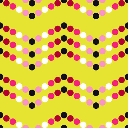 unobstructed: Seamless vector decorative background with polka dots