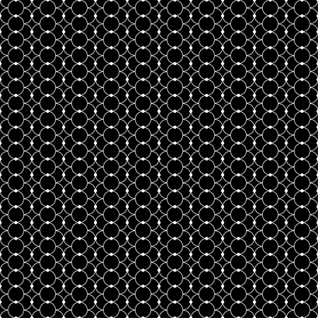 circumference: Seamless black and white decorative vector background with lines and polka dots Illustration
