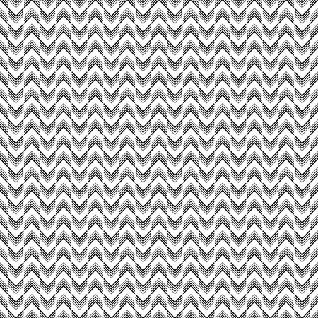 Seamless black and white decorative vector background with lines