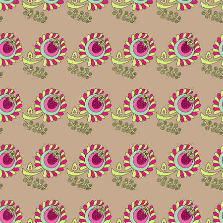 uninterrupted: Seamless vector background with decorative flowers