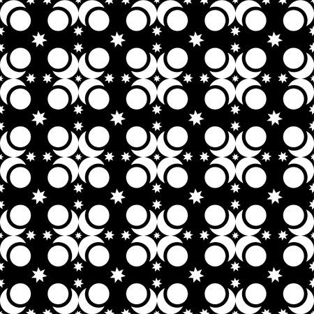 figuras abstractas: Seamless fondo decorativo blanco y negro con figuras abstractas