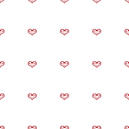 charmingly: Seamless background with decorative hearts and polka dots Illustration