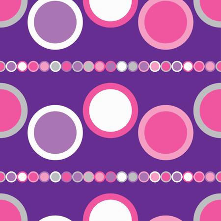 unobstructed: Seamless vector decorative background with circles
