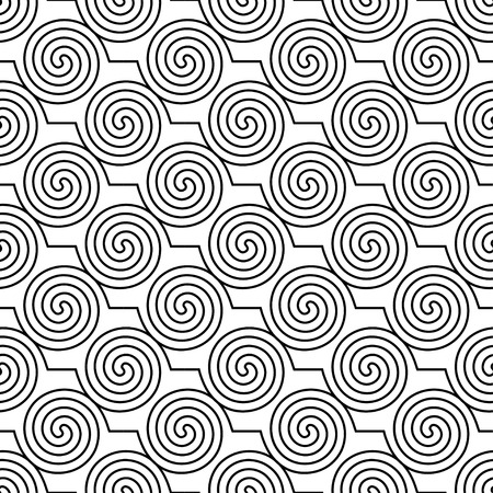 Seamless vector decorative background with curls