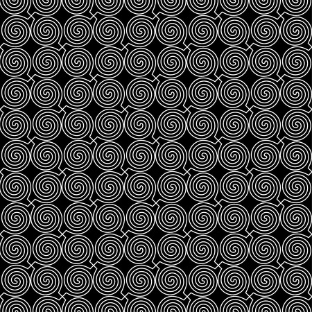 curls: Seamless vector decorative background with curls