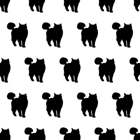 unobstructed: Seamless vector background with decorative cats in the style of pop art Illustration