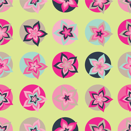 uninterrupted: Seamless colorful vector background with decorative flowers