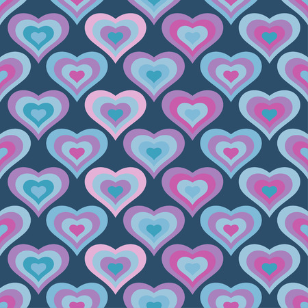 amor: Seamless vector background with decorative hearts Illustration