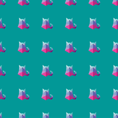 unobstructed: Seamless vector background with decorative polygonal cats