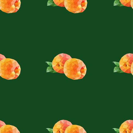 apricots: Seamless vector background with polygonal apricots