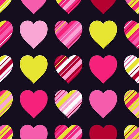 Seamless vector background with decorative hearts 矢量图像