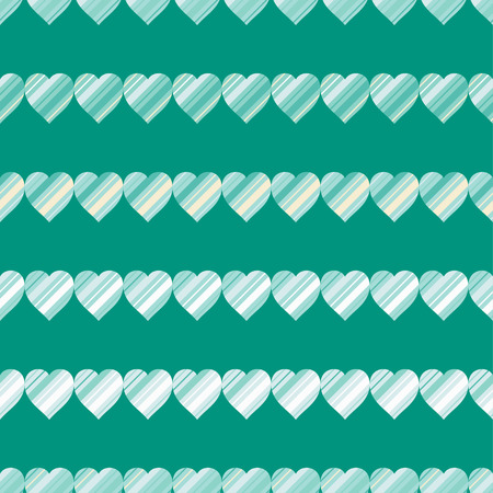 charmingly: Seamless vector background with decorative hearts Illustration