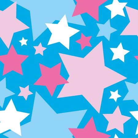 STAR: Nahtlose Vektor Hintergrund mit dekorativen Sternen. Drucken. Stoff-Design, Tapete. Illustration