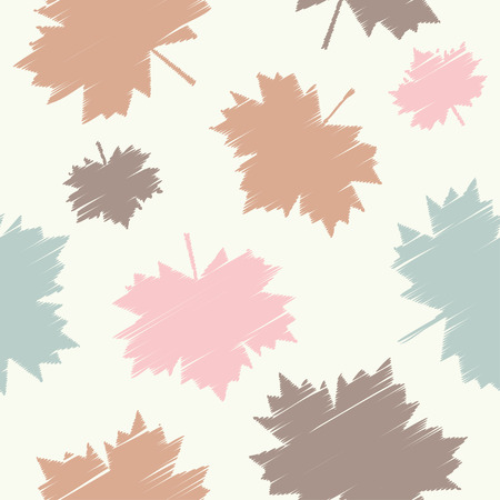 Seamless vector background with decorative maple leaves. Print. Cloth design, wallpaper.