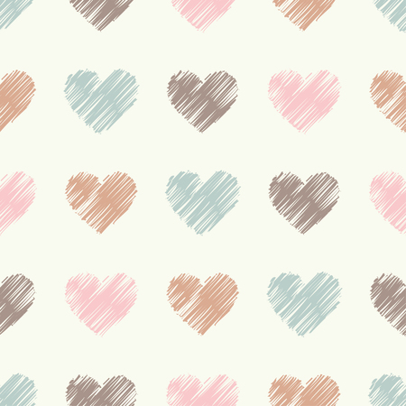 huggable: Seamless vector background with decorative hearts. Print. Cloth design, wallpaper.