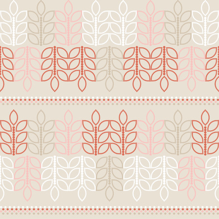 uninterrupted: Seamless vector background with decorative branche and leaves. Print. Cloth design, wallpaper. Illustration
