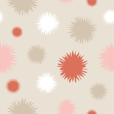 homespun: Ethnic boho seamless pattern with decorative flowers. Print. Cloth design, wallpaper.