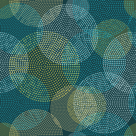 tissue paper art: Seamless vector background with decorative dotted circles. Print. Cloth design, wallpaper. Illustration