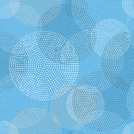 unobstructed: Seamless vector background with decorative dotted circles. Print. Cloth design, wallpaper. Illustration